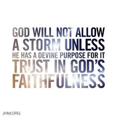 God will not allow...