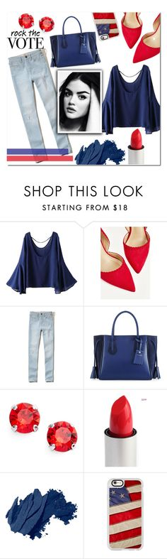 """Rock The Vote"" by asapholly on Polyvore featuring WithChic, Hollister Co., Longchamp, L. Erickson, Bobbi Brown Cosmetics and Casetify"