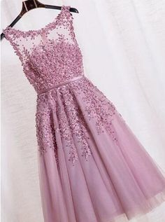 A-line Scoop Knee-length Purple Zipper-up Organza Homecoming Dress · prom dress · Online Store Powered by Storenvy