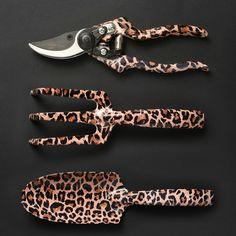 Leopard print gardening tools $ 36