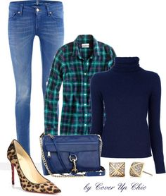 """""""Casual OOTD: Plaid and Leopard"""" by cover-up-chic on Polyvore"""