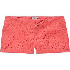 VOLCOM Frochikie Laced Womens Shorts... Lace and Coral!!