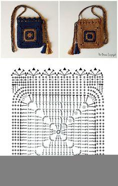 Burgundy crochet purse, Everyday essentials bag, Marsala Crossbody Knit handbag, Handmade gift for women Crochet Coin Purse, Crochet Tote, Crochet Handbags, Crochet Purses, Diy Crochet, Crochet Doilies, Crochet Granny, Pochette Portable, Crochet Bag Tutorials
