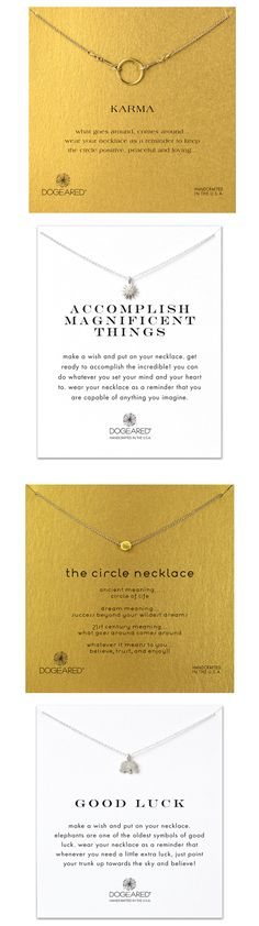 Dogeared necklaces make the perfect gifts! Layer up on necklaces for a stylish look.