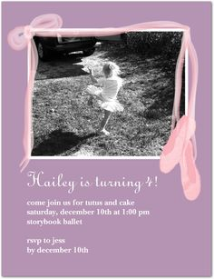 Hailey's Birthday Party Invites!
