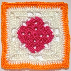 """I AM...CRAFTY!: Hooked on Granny Squares.  -FREE ( 365 ) - """"CLICK"""" designer's name for the pattern."""