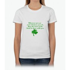 Irish Poem- funny saint patrick day shirt Womens T-Shirt