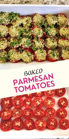 These bite-sized savory vegan baked parmesan tomatoes melt in your mouth. Full of a mixture of vegan parmesan cheese, oil-free bread crumbs, and a few additional ingredients, these bite-sized treats are ready in 15 minutes or less.Continue reading....