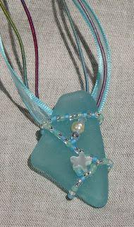 Elizabeth Creates: Sea Glass Pendant Necklaces #sea glass beads & #sea charms: http://www.ecrafty.com/c-780-sea-glass-beads.aspx?pagenum=1===newarrivals=60