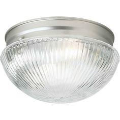 7.5-in W Brushed Nickel Standard Flush Mount Light