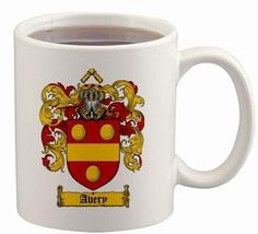 Avery Coat of Arms Mug / Family Crest 11 ounce cup $15.99