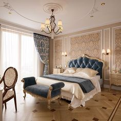 Nightstands, beds, side tables, cabinets or armchairs are some of the luxury bedroom furniture tips that you can find. Every detail matters when we are decorating our master bedroom, right? Luxury Bedroom Furniture, Luxury Bedroom Design, Luxury Bedding, Bedroom Decor, Interior Design, Elegant Home Decor, Elegant Homes, Mansion Bedroom, Master Bedroom Makeover