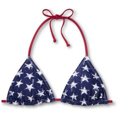 Women's American Flag Triangle Bikini Top - Xhil... : Target ($15) ❤ liked on Polyvore featuring swimwear, bikinis, bikini tops, triangle swim wear, triangle swimwear, american flag bikini top, tankini tops and triangle swimsuit top