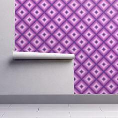 Violet shibori wallpaper - pattern_house - Spoonflower #wallpaper #violet #purple #abstract #retro #geometric #home #pattern