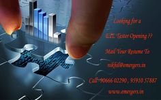 Looking for a ETL Tester Opening ?? mail Your Resume To  nikhil@emergers.in Call 90666 02290 95910 57887