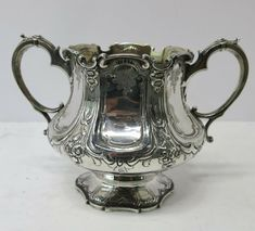 Antique English Sterling Silver 2 handled Bowl. Barnards. London 1844 #Barnards #Victorian House Prices, Antique Silver, Victorian, English, London, Sterling Silver, Antiques, Ebay, Antiquities