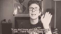 This is soooo what I would do when somebody says they don't know who one direction is