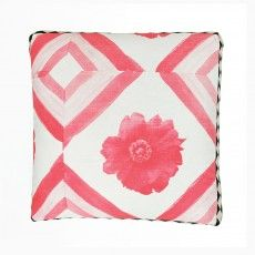Peony Pink tile Cushion - Bonnie and Neil