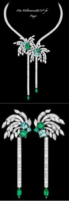 Piaget Emerald and Diamond Necklace and Earrings - A Diamond Affair - Miss Millionairess&Co™