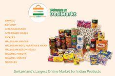Top Online Shopping Indian Grocery in Zurich, Switzerland. Want More Information: desimarkt.ch Indian Grocery Store, Naan, Ketchup, Switzerland, Cereal, Online Shopping, Snacks, Meals, Food