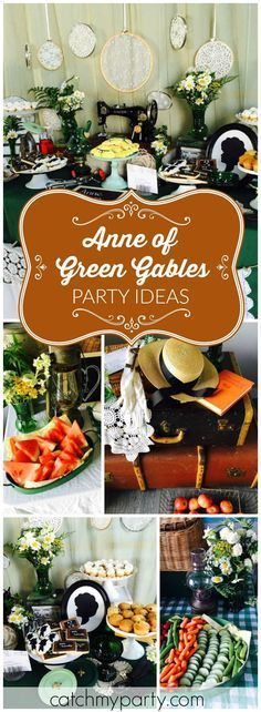This beautiful Anne Of Green Gables cast party has lots of vintage finds! See more party ideas at http://Catchmyparty.com!