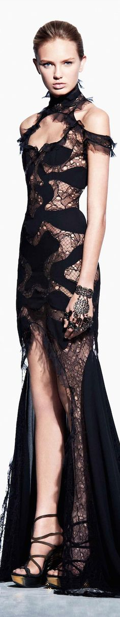 """{ Alexander McQueen } ♥♡♥♡♥Thanks, Pinterest Pinners, for stopping by, viewing, re-pinning,  following my boards.  Have a beautiful day! ^..^ and """"Feel free to share on Pinterest ^..^ #fashion   #fashionupdates"""