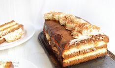8 lg cu varf zahar tos 50 g frisca lichida 70 ml lapte 2 lgt ulei de palmier/unt Pentru insiropat Food Cakes, Tiramisu, Banana Bread, Cake Recipes, Caramel, Ethnic Recipes, Desserts, Photos, Cakes