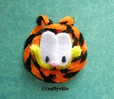 garfield crafts - pipe clearners easy