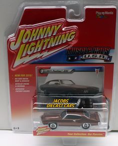 1:64 JOHNNY LIGHTNING MUSCLE CAR U.S.A. RELEASE 1B - 1971 PONTIAC GTO #JohnnyLightning #Pontiac