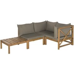 Found it at AllModern - Sanibel Lynwood Modular Outdoor 4 Piece Seating Group with Cushion