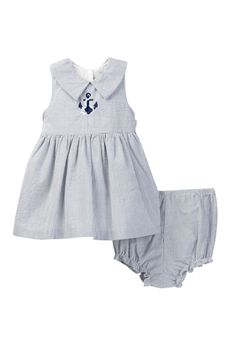 Striped Embroidered Dress (Baby Girls 12-24M)