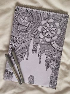 zentangle-doodle art Top page quote(dream, free, imagine, e.c relative) in Disney font Disney land castle Zentangle all around( free wave ) Doodles Zentangles, Zentangle Patterns, Doodle Drawings, Doodle Art, Tumblr Drawings, Tumblr Art, Zentangle Drawings, Zen Doodle, Zantangle Art
