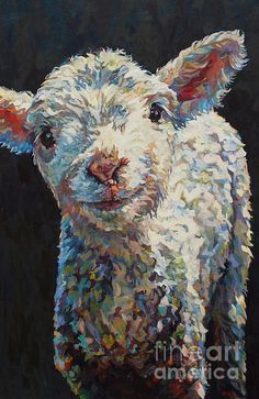 Sheep,lamb,dorset sheep,Alice,farm,farm animal,baby animal,griffin,patricia a griffin,patricia griffin,Art,Painting,oil painting