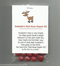 New Rudolph's Red Nose Repair Kit Novelty Gag Gift Stocking Stuffer Favor Candy   eBay