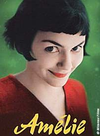 Amelie...inspires me.  The colors and the sets and wardrobe are so fanciful and make me feel -well, happy.