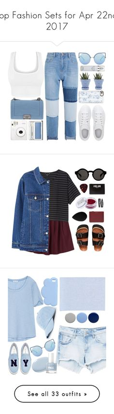 """""""Top Fashion Sets for Apr 22nd, 2017"""" by polyvore ❤ liked on Polyvore featuring Steve J & Yoni P, adidas, Chanel, Matthew Williamson, Casetify, Clinique, Chive, Kenneth Cole, white and Blue"""
