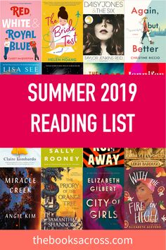 24 Books to add to your Summer 2019 Reading List - The Books Across Have you already decided which books are you going to bring with you this summer? Here is a list of the best new releases of 2019 that you can add to your summer reading list! Great Books To Read, I Love Books, Good Books, My Books, Reading Books, Book Club Books, Book Nerd, Book Lists, The Book