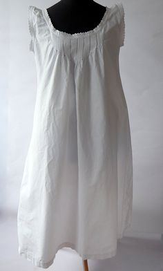 French Vintage Chemise Nightgown Fine by Vintagefrenchlinens