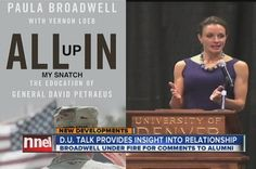 """Denver ABC 7News reported on ex-CIA director David Petraeus' relationship with his biographer, Paula Broadwell.  The station apologized for using a book image lifted off the Internet that showed Broadwell's book titled """"All Up In My Snatch"""" instead of the correct title - """"All In.""""  The mistake went viral on the Internet and the station swears it was a mistake.  In case you missed it here it is -   http://www.youtube.com/watch?v=a85V_Sqt8Yo"""