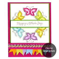 Happy Mother's Day card created with DeNami Design stamps