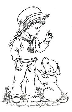 desenhos infantis - menino