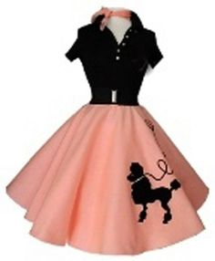 Poodle skirts, need I say more. We loved poodle skirts! 1950s Style, Style Retro, Vintage Outfits, Vintage Dresses, Vintage Fashion, 1960s Dresses, Moda Vintage, Vintage Mode, Skirt Images