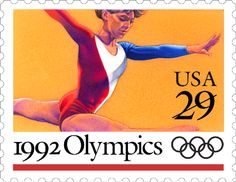 Congratulations to the U.S. women's gymnastics team for bringing home the gold yesterday! And to all of America's athletes who are representing our country in London for the XXX Olympiad! This stamp was issued in 1992 to celebrate the Summer Olympics in Barcelona, Spain.