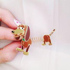 My new pin: Slinky Dog! #disneyland #toystory #pixar #disneylandparis #cherryblossomgirlindisneyland