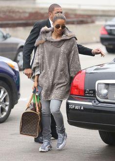 Ciara wearing Air Jordan XII