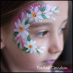 Flower Face Painting | Girls Face Paint | Daisy Face Paint | Nadine's Dreams Face Painting