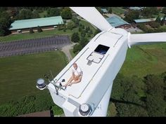A Drone Found A Man With No Chill Sunbathing On Top Of A 200 Foot Wind Turbine