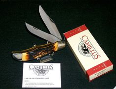 Camillus 26 Sword Brand Knife Benchmade Indian Stag Handles W/Packaging,Papers @ ditwtexas.webstoreplace.com
