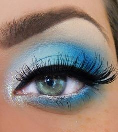 Day 4 Blue makeup love this #oceanview
