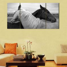 3pc Horse Wall Art on Canvas